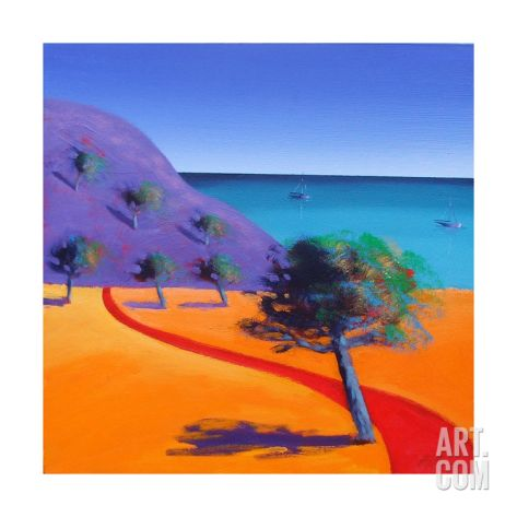 Red Path Giclee Print by Paul Powis at Art.com