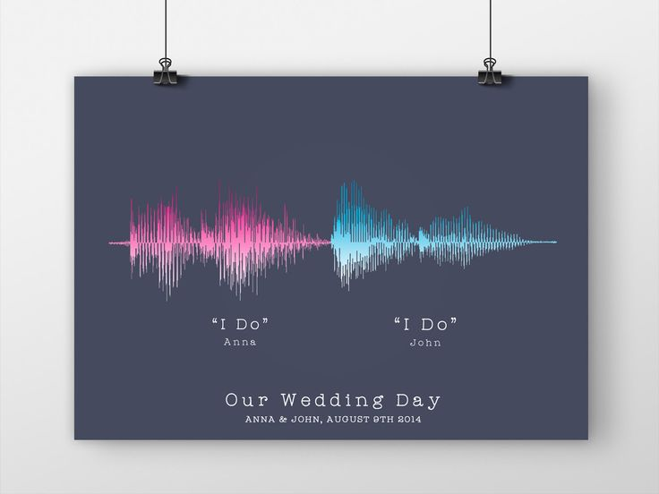 Soundwave Print, Paper Anniversary Gift, Wedding Vows, 'I Do' Keepsake, Personalized First Anniversary Gift, Wedding Gift For Couple, Art by JandoDesign on Etsy https://www.etsy.com/listing/228779254/soundwave-print-paper-anniversary-gift