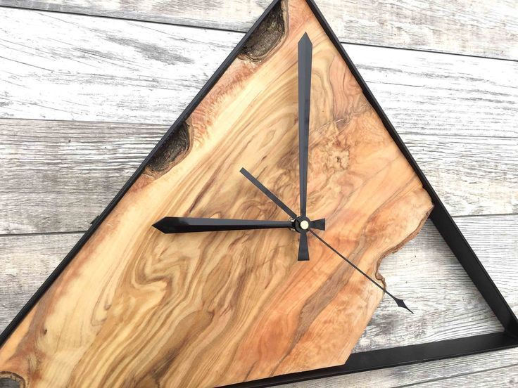 Dreieck Wanduhr Wanduhren Wanduhren Aus Holz Grosse Wanduhr