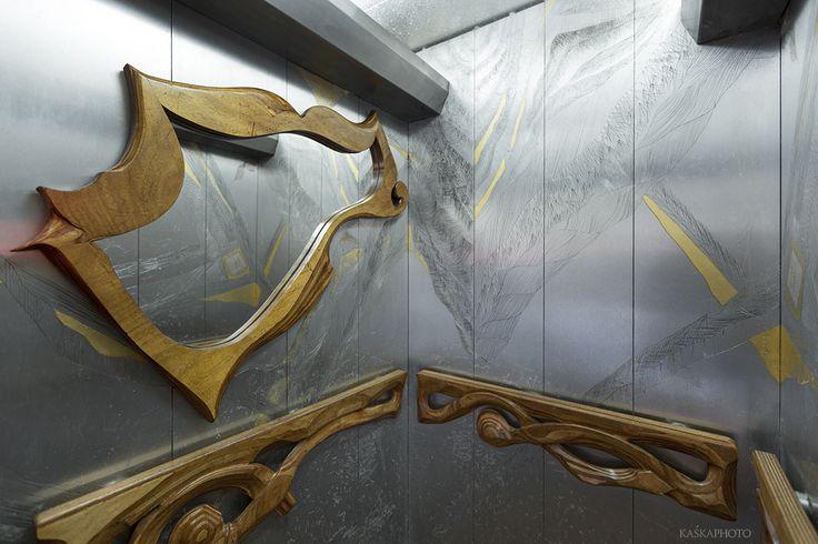 """Elevator in The """"Crazy House"""". photo by Kaśka Sikora #TelAviv #Hayarkon #realestate #luxuryrealestate #luxuryhomes #luxurylife #designer #decoration #luxuryapartments #art #gaudistyle #architects, #designers #elevator #luxurylife #designer #decoration  #interiordesign  #gaudistyle #artwork #architecture #Kaśka #Sikora"""