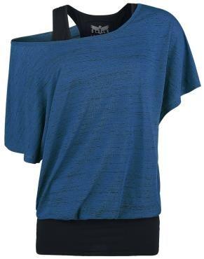 Shirt von Black Premium by EMP:  - 2- teilig - Oberteil im Slubyarn Design - U- Boot- Ausschnitt - weite Passform - Fledermausärmel - Top uni schwarz