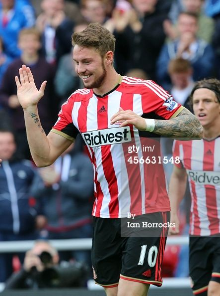 Connor Wickham of Sunderland celebrates scoring...