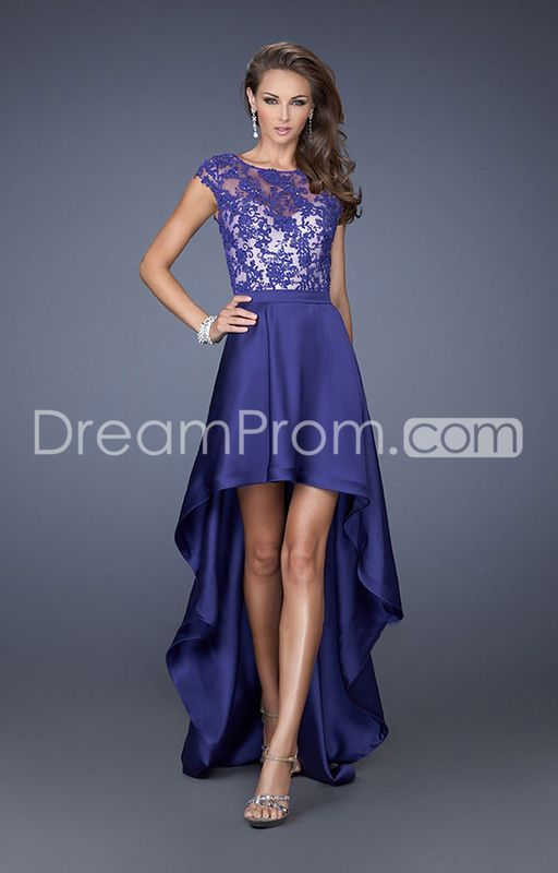 2014+Charming+Floor-length+Sleeveless+High+Low+Satin+Prom+Dresses