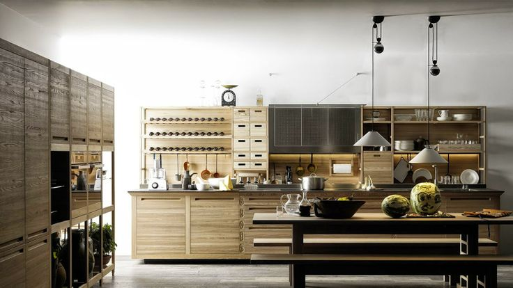 This is a kitchen I blogged about from Italian kitchen maker Valcucine