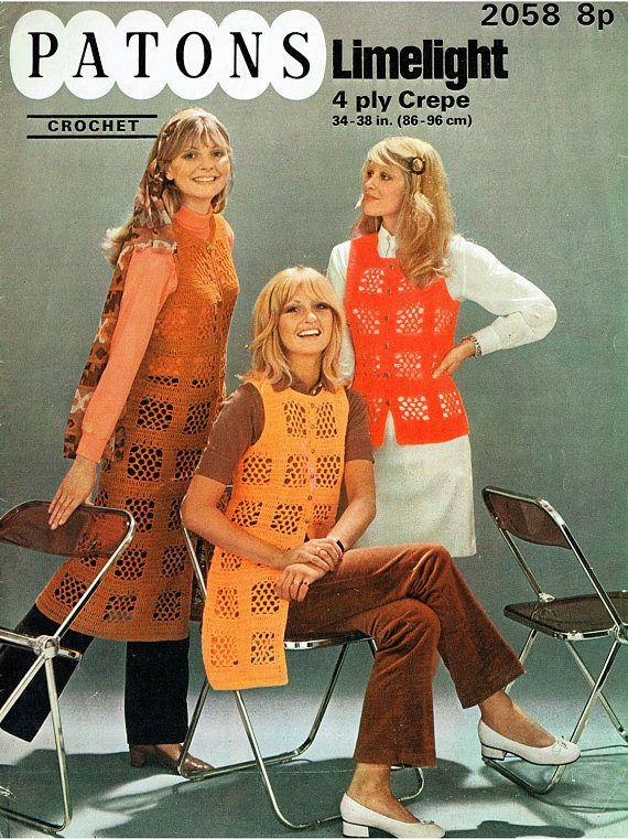 Vintage Womens Ladies Waistcoat Crochet Pattern Summer Beach