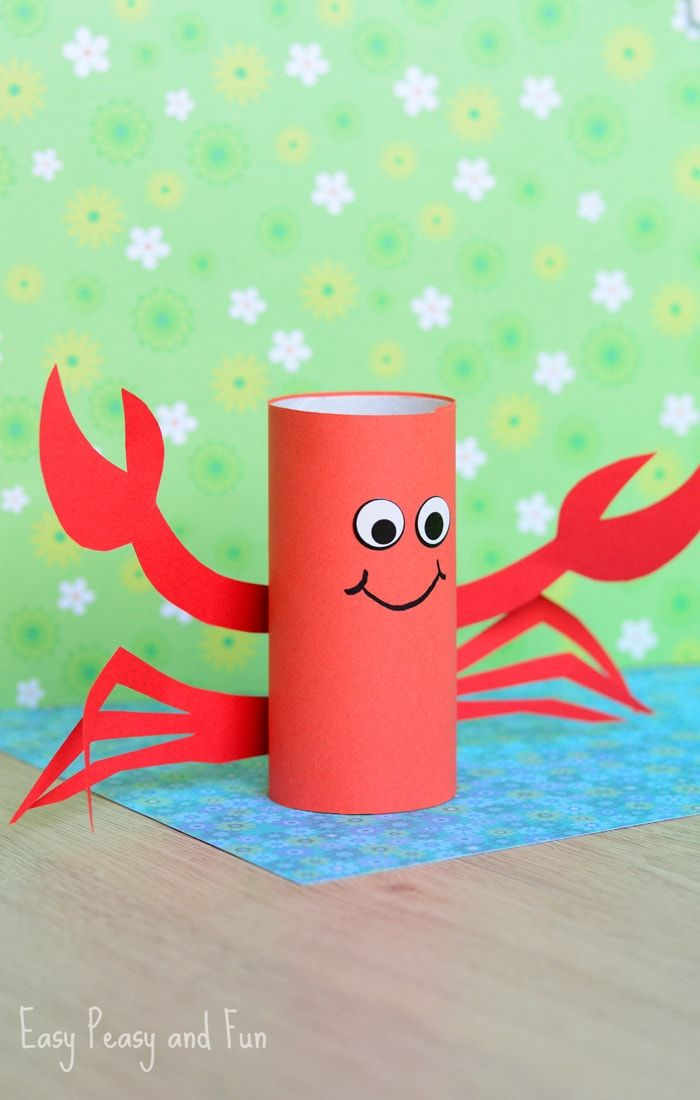 Paper Roll Crab Craft for Kids