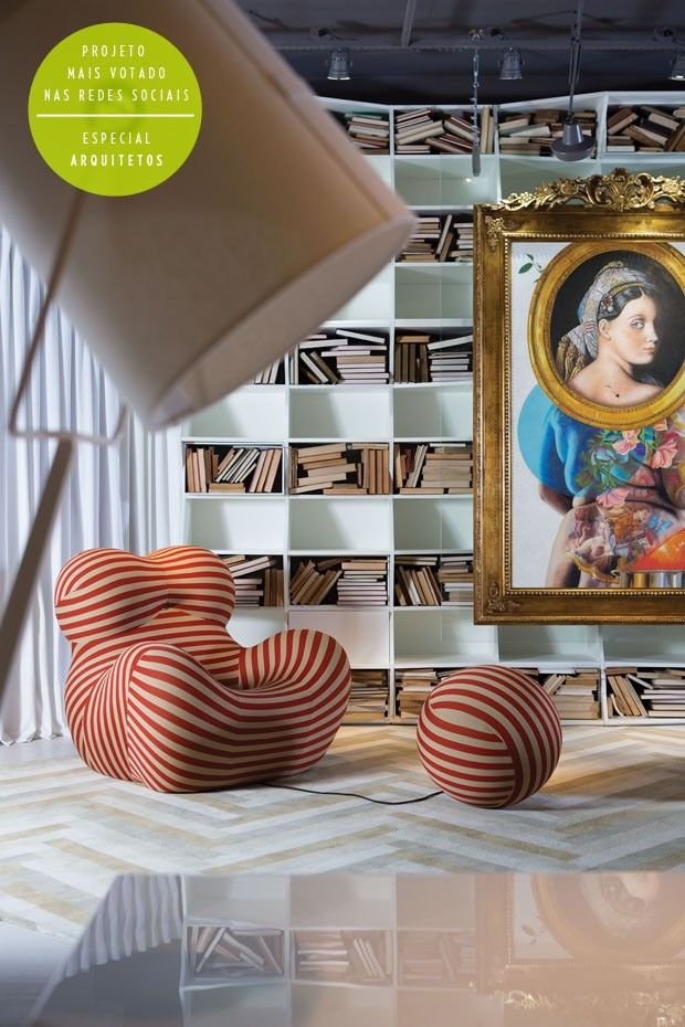 Henrique Steyer Florense (Photo: Andrew Klotz / Handout)- that chair is pretty amazing, but those bookshelves are causing me some discomfort lol!!