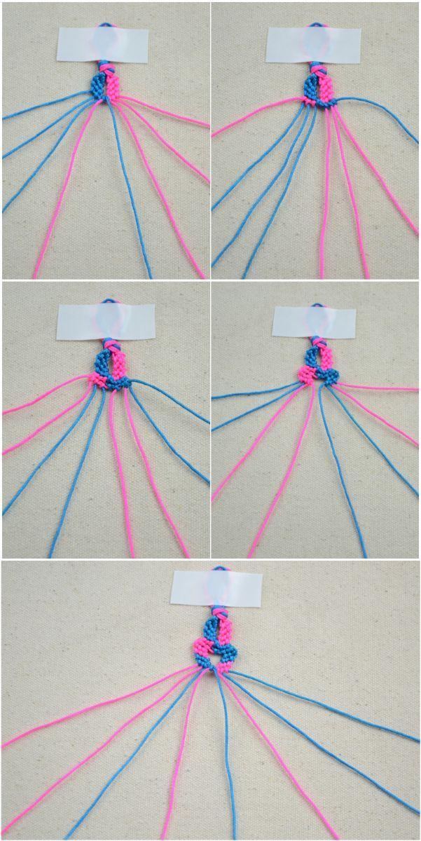 Funny bracelet making instructions with string- DIY infinity bracelet – Pandahall