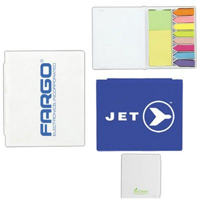 BioGreen Customised Flag and Sticky Note Set Min 100 - Promotional Giveaways - Custom Notepads - HCL-T4931e - Best Value Promotional items including Promotional Merchandise, Printed T shirts, Promotional Mugs, Promotional Clothing and Corporate Gifts from PROMOSXCHAGE - Melbourne, Sydney, Brisbane - Call 1800 PROMOS (776 667)