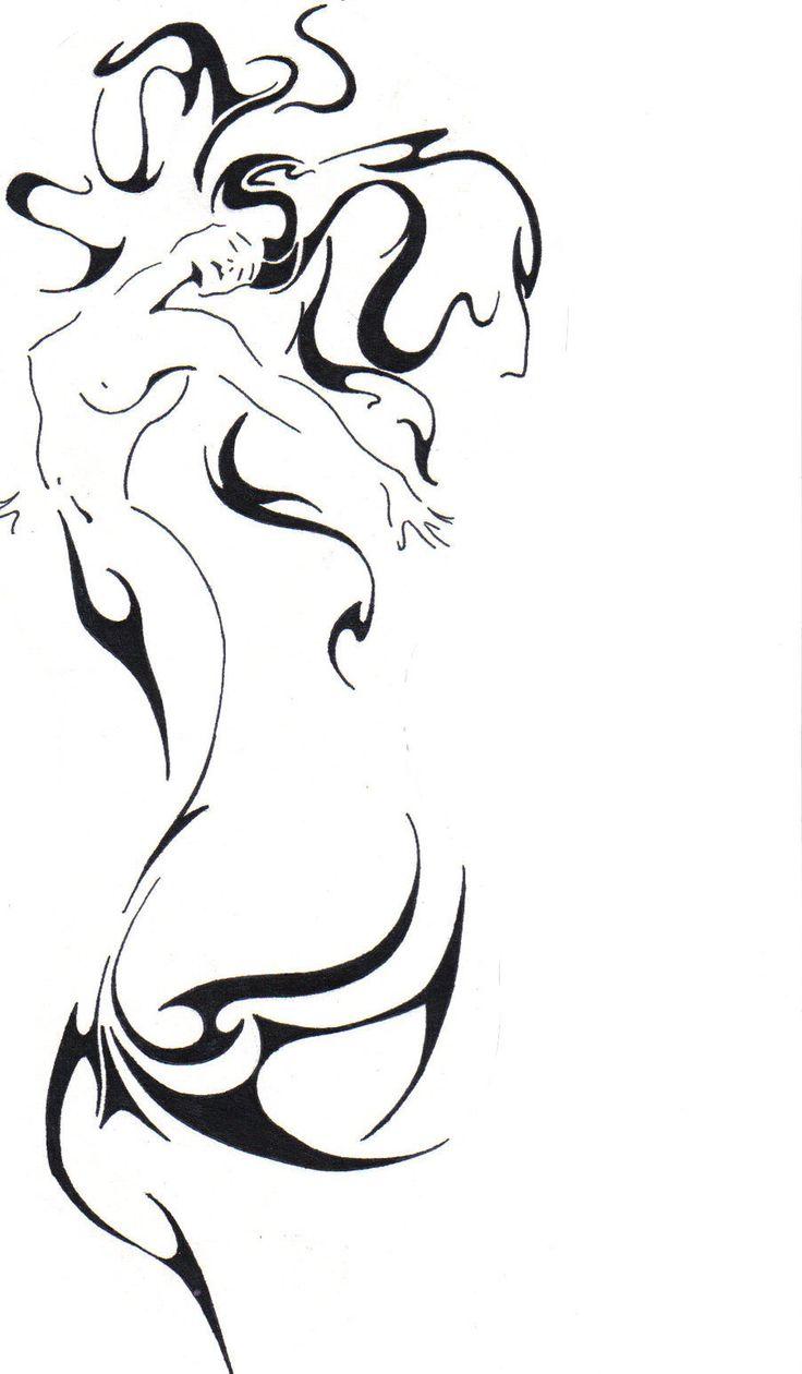 BLACK Mermaids   Mermaid tattoo by ~thor102098 on deviantART