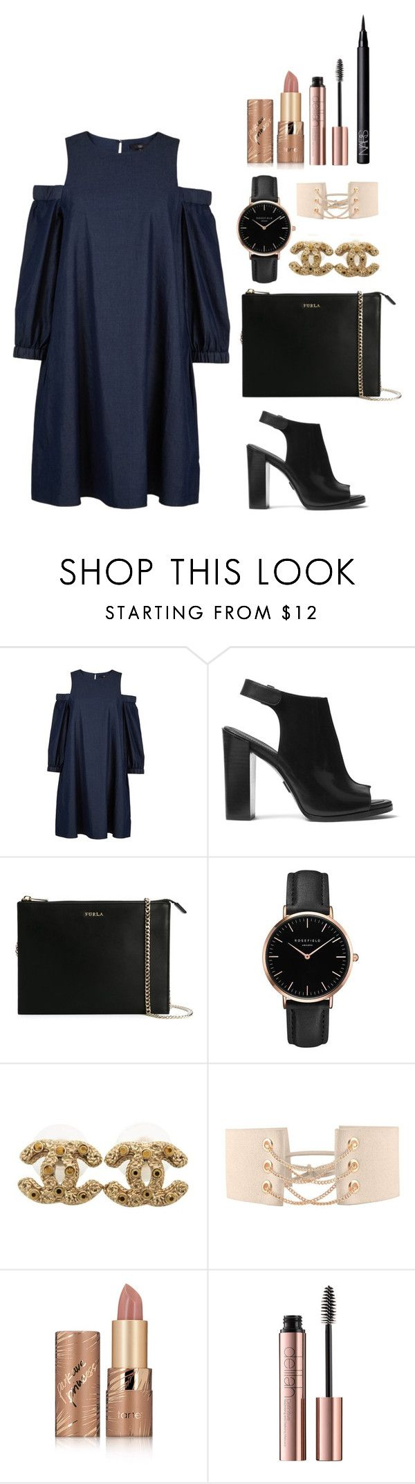 """Aristocrat"" by itsmeambra ❤ liked on Polyvore featuring TIBI, Michael Kors, Furla, Topshop, Chanel, tarte and NARS Cosmetics"
