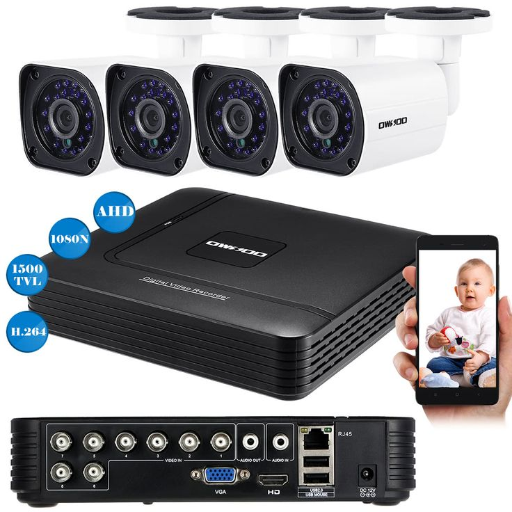 OWSOO 8CH 1080N DVR + 4pcs AHD 720P Outdoor Bullet CCTV Camera PAL System Sales Online Array - Tomtop