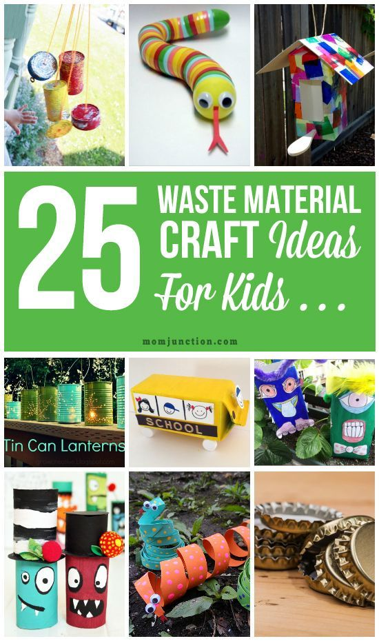 25 creative out of waste material crafts for kids waste for Waste material craft on paper