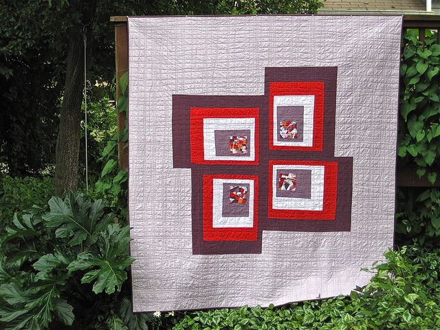 Grape Crush Quilt/Submission for Seattle Modern Quilt Guild Exhibit: Crushes Quilts, Sewkatiedid Grap Crushes, Grape Crushes, Ipa Sewkatiedid, Cabins Quilts, Quilts Guild, Logs Cabins, Sewing Katy, Modern Quilts
