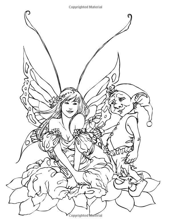 free fairy coloring pages by selina fenech - Coloring Pages Dragons Fairies