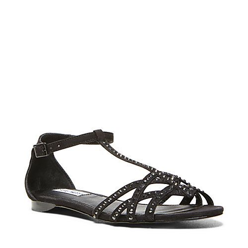 LINGIRR BLACK MULTI women's sandal flat ankle strap - Steve Madden