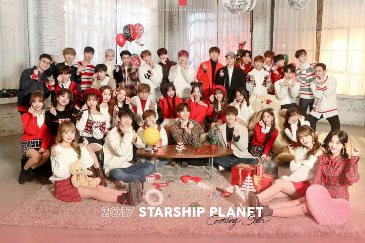 """Starship Artists Get Together For Festive Photo For """"2017 Starship Planet"""" Winter Song 