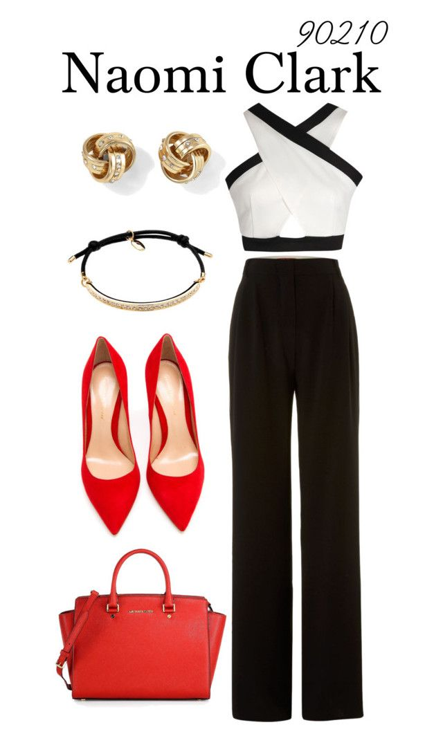 Naomi Clark by sparkle1277 on Polyvore featuring polyvore, fashion, style, Boohoo, MaxMara, Gianvito Rossi, MICHAEL Michael Kors, White House Black Market, Cachet London and clothing