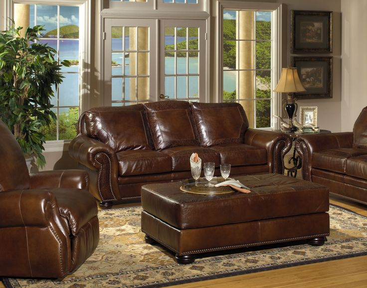 Leather Classic Sofa In Living Room