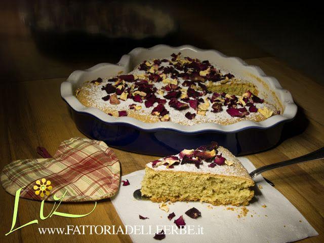 FATTORIA DELLE ERBE - TORTA SOFFICE ALLE #ROSE E #MENTA - soft #cake with #rose and #mint