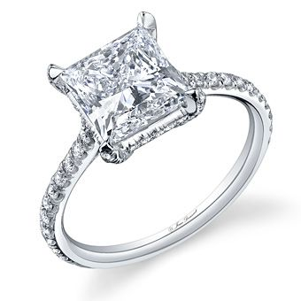 Jean Dousset Diamonds :  RIVIERA Princess Cut : Engagement Rings Gallery