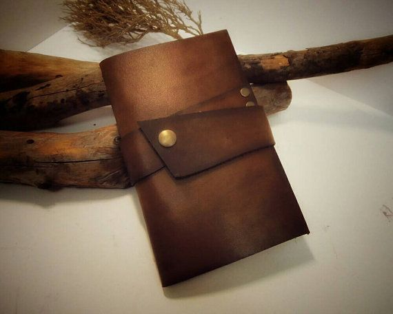 Leather Notebook Cover and Pen Moleskine Cover by VakalisCreations