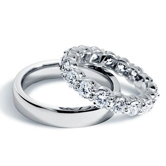 Brides: Blue Nile :  His and Hers Wedding Rings : Engagement Rings Gallery