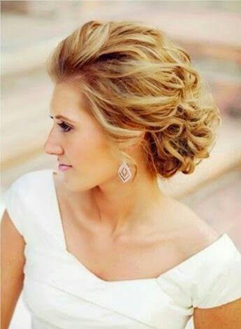 Recogido de novia pelo corto