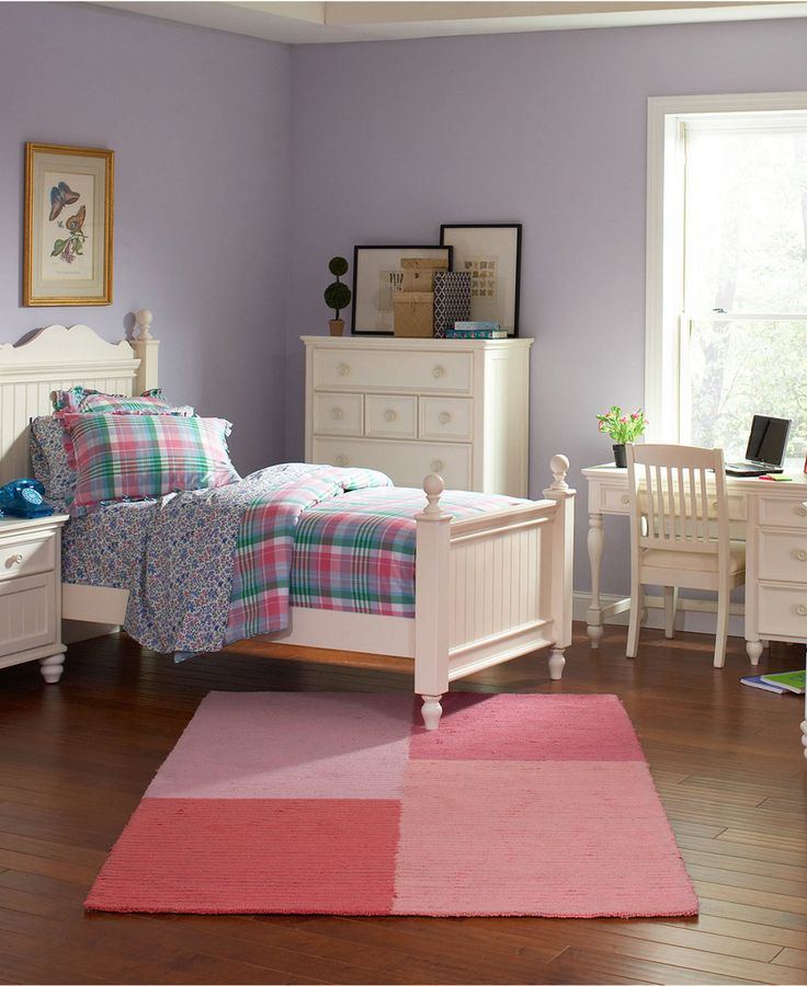 Graceful Ivory White Paint Wooden Ashley Bedroom Furniture Ideas For Teenage…