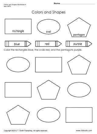 Snapshot image of Colors and Shapes Worksheet 4 | Shape ...