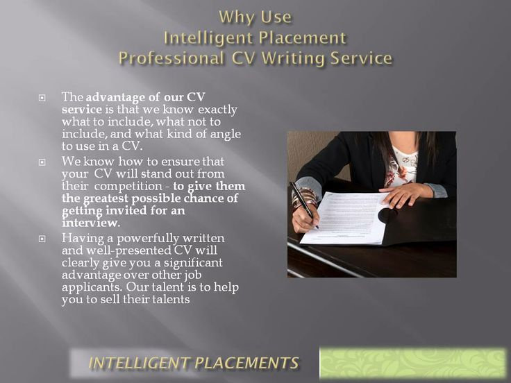 Why Make use of our Marketable CV Services