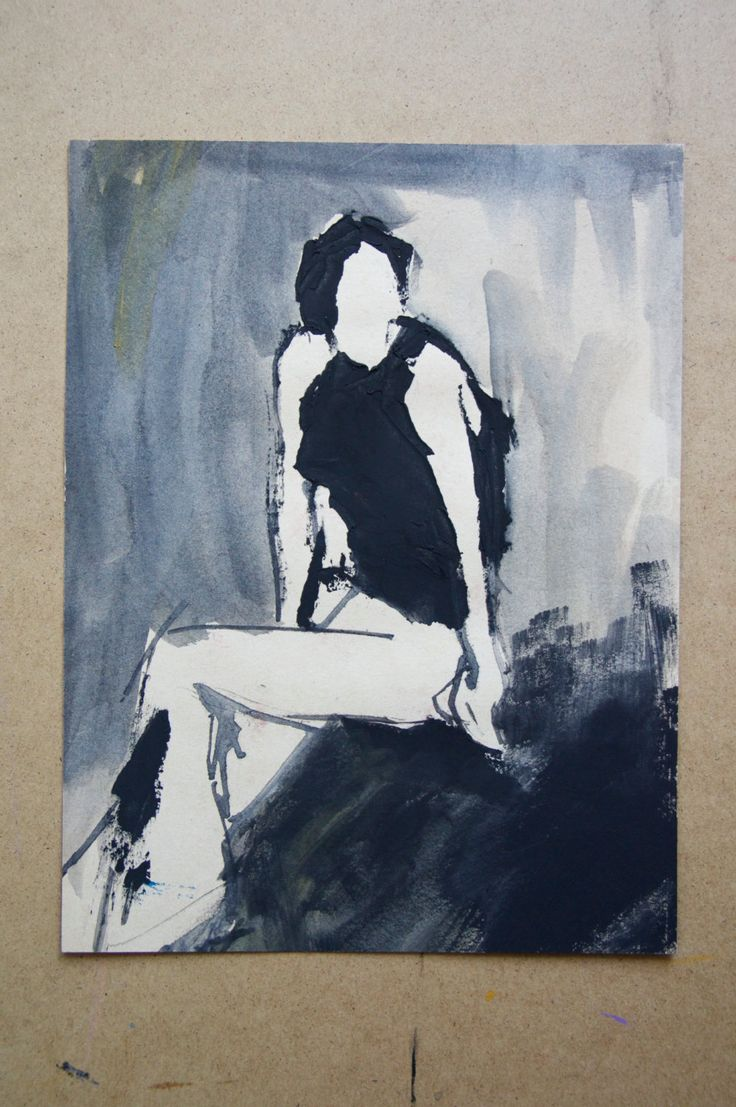 Woman in trousers. Sitting portrait. Original painting on recycled paper. Minimalist sketch with watercolor. Portrait. Wall art. by ankaGilding on Etsy