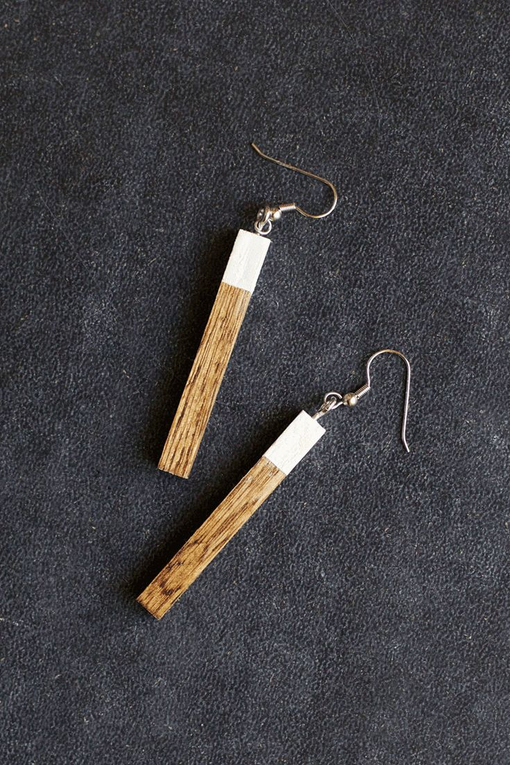 Diy Wood Earrings This Would Be A Great Christmas Gift For Girlfriends