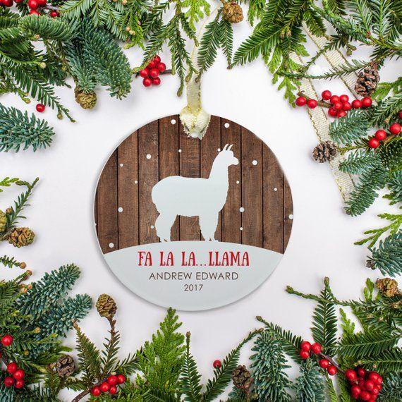 Llama Christmas Ornament Personalized Christmas Ornament Ornament Baby S 1s Personalized Christmas Ornaments Mississippi Christmas