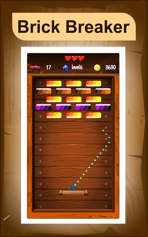 Brick Breaker is incredibly simple yet very addictive classic puzzle game where the player needs to break all the colored bricks on each level and battle your way through all 30 unique levels to become a best Brick breaker hero champion.