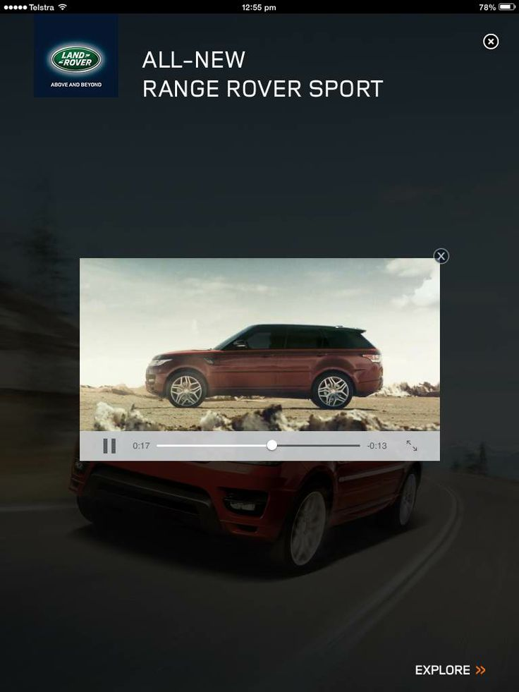 Range Rover Sport Full Page - click to show video (with video playing)