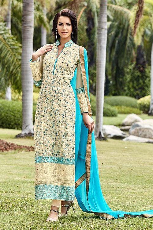 Turquoise Pure Georgette Embellished Straight Cut Suits - Google Search     #SalwarKameez   #Shalwarkameez  #Indiandresses  #Indiansuits  #Indianfashion  #indianclothes  #Indianoutfits  #salwarsuits  #churidarsuits  #DesignerSalwarSuits  #palazzosuits