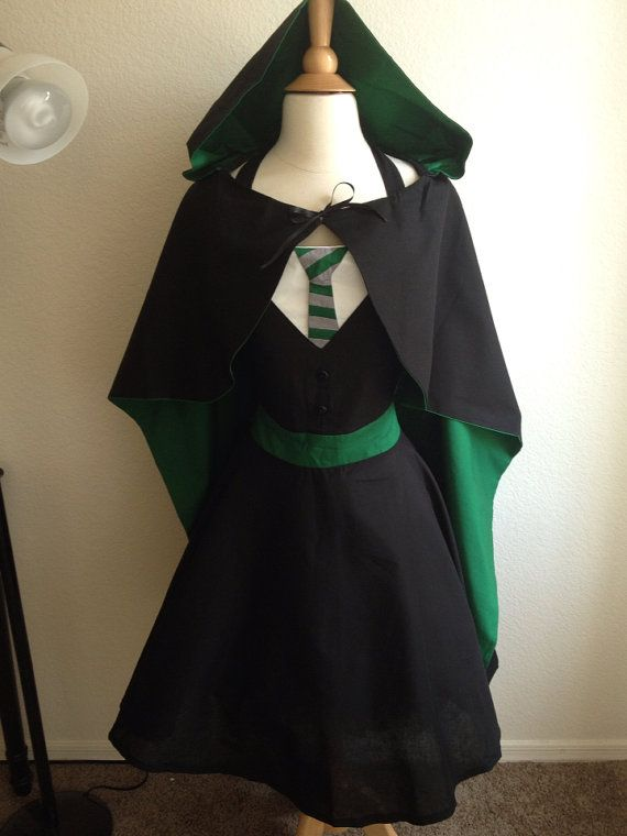 Harry Potter adult full apron with cape by AJsCafe on Etsy