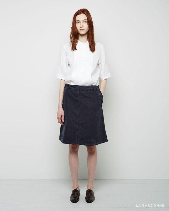 Margaret Howell / Tuck Front Shirt MHL by Margaret Howell / Sailor Skirt  Jil Sander / Oxford