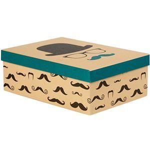Boîte en carton design moustache S