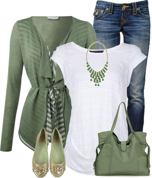 Cute waterfall cardigan spring outfit