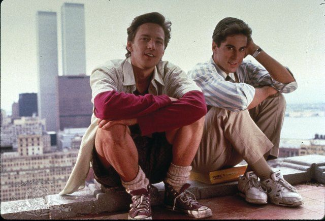 Andrew McCarthy and Jonathan Silverman from Weekend at Bernie's