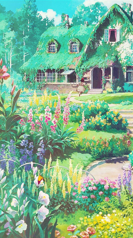 "aprettyfire "" ""Ghibli + Flowers "" "" Studio ghibli"