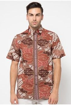 Pria > Pakaian > Atasan > Kemeja > Short Sleeve Cotton Shirt > Batik Solo