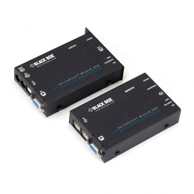 Black Box Acu5051a Usb Kvm Extender Has Transparent Usb 1 1 Usb 2 0 Support Up To 164 Feet 50 M Over A Single Catx Cable Contac Black Box Usb Kvm Switches