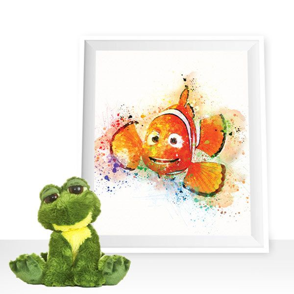 Finding Nemo print, Nemo wall decor, Nemo printable, Disney print Nemo watercolor Disney printable, Nemo poster, Nemo wall art, Nemo digital by HappyLittleFrog on Etsy