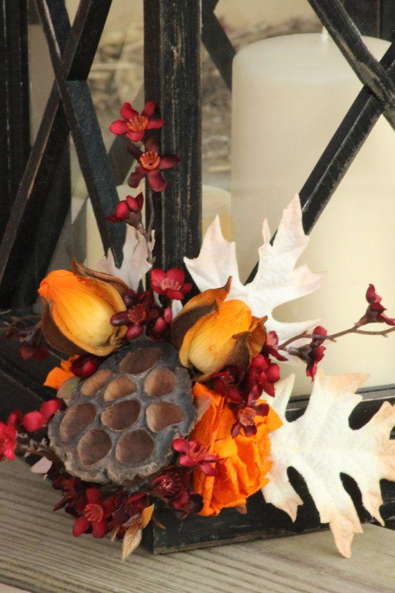 Fall/Autumn Rustic Lantern Centerpiece Autumn by LittleBitMyStyle