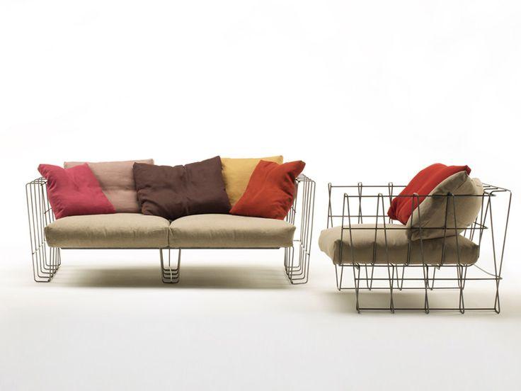 Steel garden armchair Armchair Hoop Collection by Living Divani | design Arik Levy
