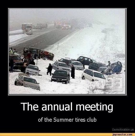 """""""The annual meeting of the summer tires club"""" ;-)"""