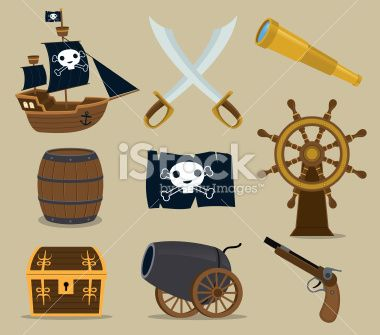 Pirate Icon Set Royalty Free Stock Vector Art Illustration